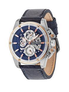 police-splinter-blue-multi-dial-blue-leather-strap-mens-watch