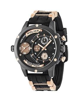 police-adder-black-mutlidial-black-silicone-strap-mens-watch