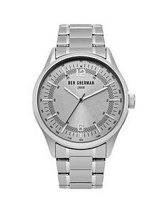 ben-sherman-ben-sherman-silver-sunray-dial-silver-stainless-steel-bracelet-mens-watch
