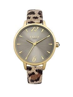 lipsy-lipsy-mink-sunray-dial-natural-brownbeige-leopard-print-pu-strap-ladies-watch