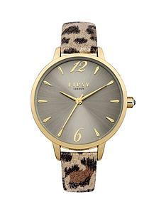 lipsy-lipsy-mink-sunray-dial-natural-brownbeige-leopard-print-pu-strap-ladies-watch