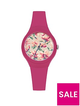 cath-kidston-peony-blossom-photo-floral-printed-dial-dark-pink-silicone-strap-ladies-watch