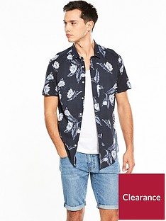 v-by-very-short-sleeve-leaf-printed-shirt