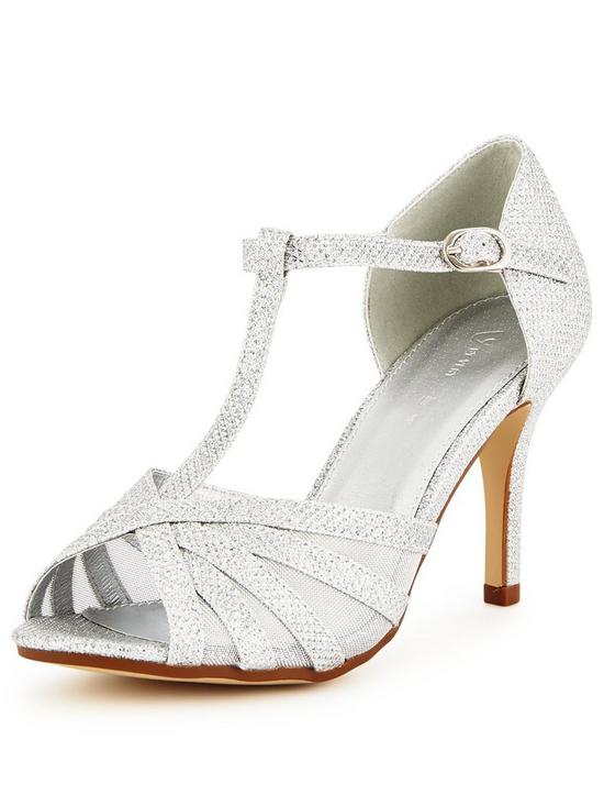 V by Very Fiona Mid Heel Sparkle Sandal | very.co.uk