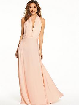 Myleene Klass Deep V Front Tie Maxi Dress