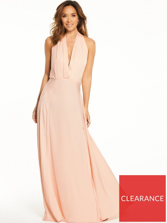 ea68aac2f5 Myleene Klass Deep V Front Tie Maxi Dress