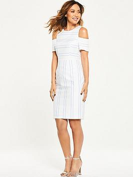 Myleene Klass Cold Shoulder Pencil Dress