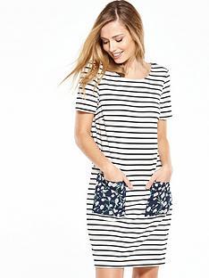 vila-tinny-blooming-stripe-dress-white