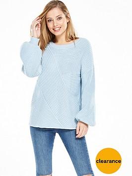 vila-omas-knit-top-cashmere-blue