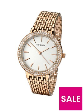 sekonda-white-dial-stone-bezel-rose-tone-bracelet-ladies-watch