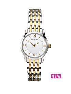 sekonda-sekonda-white-dial-two-tone-bracelet-stainless-steel-ladies-watch