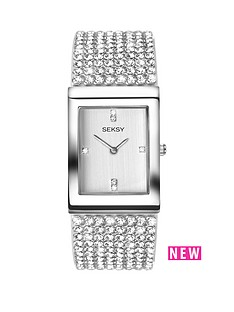 seksy-seksy-white-dial-stone-bracelet-ladies-watch
