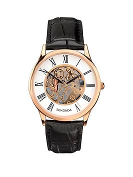 sekonda-sekonda-white-dial-skeleton-dial-black-leather-strap-mens-watch