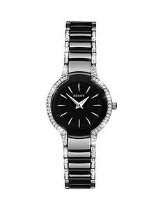 seksy-seksy-black-dial-stone-bezel-black-bracelet-ladies-watch