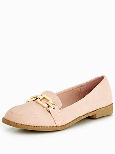 v-by-very-mandy-gold-trim-loafer-nude