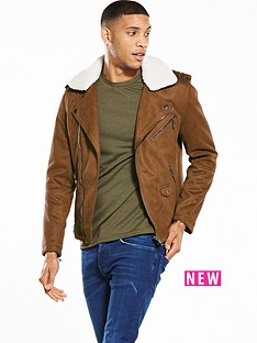 river-island-borg-collar-biker-jacket