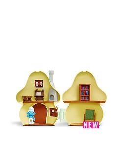 the-smurfs-smurfs-mushroom-house-playset-with-brainy