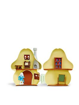 the-smurfs-smurfs-mushroom-house-playset-with-brainy