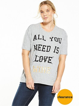 v-by-very-curve-wine-slogan-rib-t-shirt-grey
