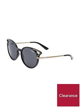 vogue-round-cateye-cutout-sunglasses