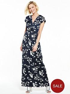 vila-elaine-cap-sleeve-maxi-dress-total-eclipse