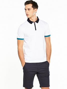 v-by-very-short-sleeve-zip-contrast-polo