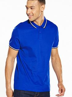 v-by-very-short-sleeve-tipped-pique-polo