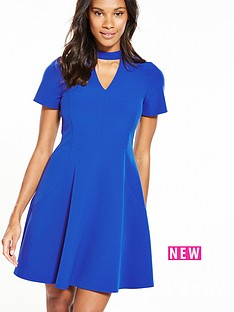 v-by-very-high-neck-fit-and-flare-dress-cobalt
