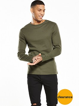 river-island-long-sleeve-slim-fit-rib-tsh