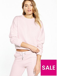 nicce-crop-sweat-pink