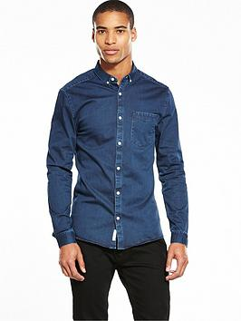 river-island-long-sleeve-denim-muscle-fit