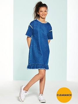 v-by-very-girls-denim-fray-shift-dress