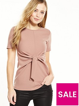 v-by-very-knot-front-crepe-top