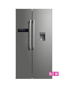 swan-sr70110s-90cm-american-style-double-door-fridge-freezer-with-water-dispenser--nbspnext-day-delivery-silver