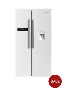 swan-sr70110w-90cm-american-style-double-door-fridge-freezer-with-water-dispenser-next-day-delivery-white