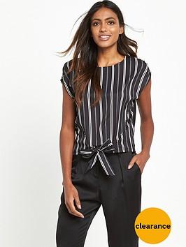 river-island-tie-front-top-black-stripe