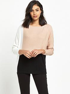 river-island-colourblock-batwing-top