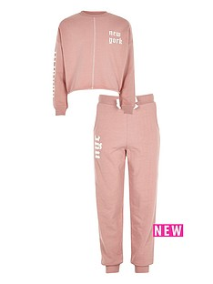 river-island-girls-new-york-jumper-and-joggers-set