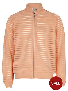 river-island-girls-coral-mesh-bomber-jacket