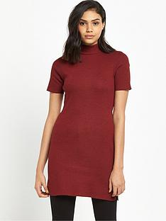 river-island-red-marl-turtle-neck-tunic