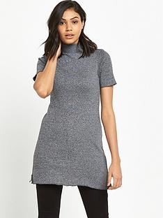 river-island-grey-turtle-neck-tunic