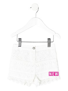 river-island-mini-girls-white-crochet-shorts