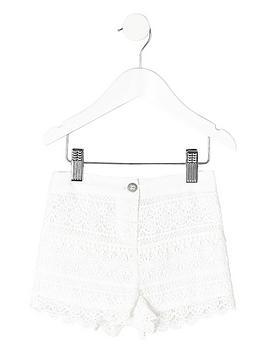 river-island-mini-girls-white-crochet-shorts