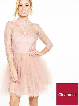 chi-chi-london-petite-lace-top-dress-dusty-pink