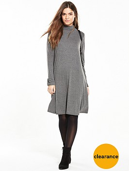 v-by-very-turtle-neck-swing-dress-charcoal-grey