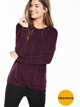 v-by-very-slinky-knot-front-top