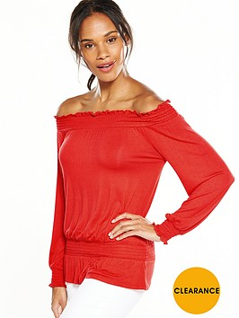 v-by-very-bardot-long-sleeve-top-flame-red