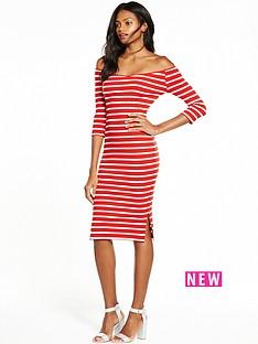 v-by-very-bardot-rib-midi-dress