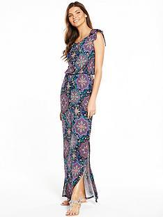 v-by-very-bardot-tie-sleeve-maxi-dress