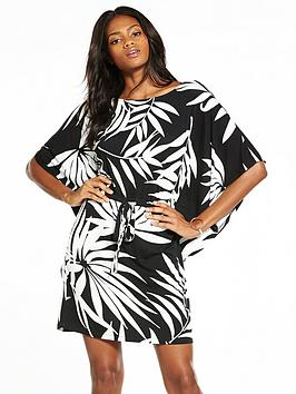 v-by-very-cape-sleeve-dress-monochrome